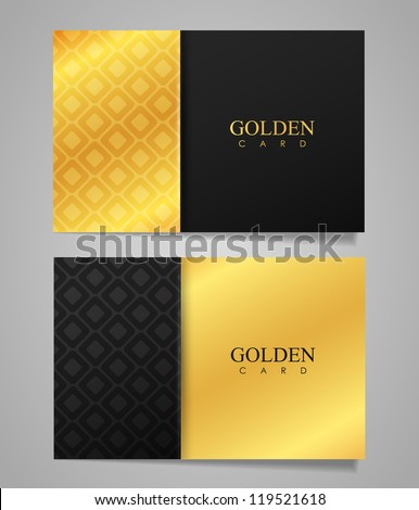 Vector golden business card - stock vector