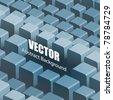 Vector Golden 3d symmetrical Cubes - stock vector