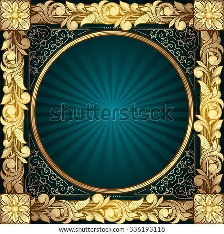 Vector golden decorative design - stock vector