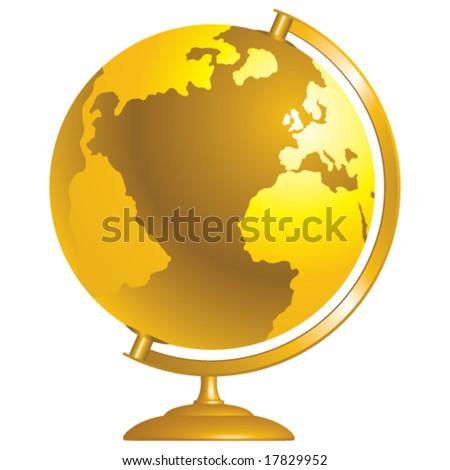 Vector Golden Globe - stock vector