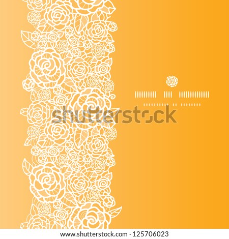 Vector golden lace roses vertical seamless pattern background with hand drawn elements