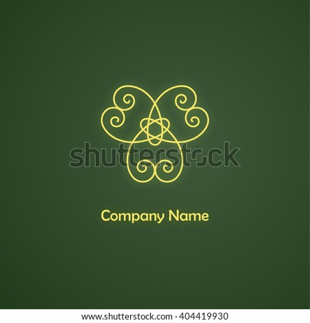 Vector golden logo template.