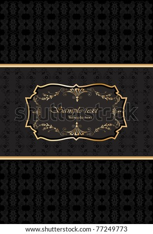 vector golden ornate card
