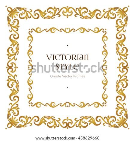 Vector Golden Precious Frame Design Template Stock Vector 458629660 ...