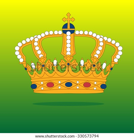 vector Golden Royal crown, a symbol of power