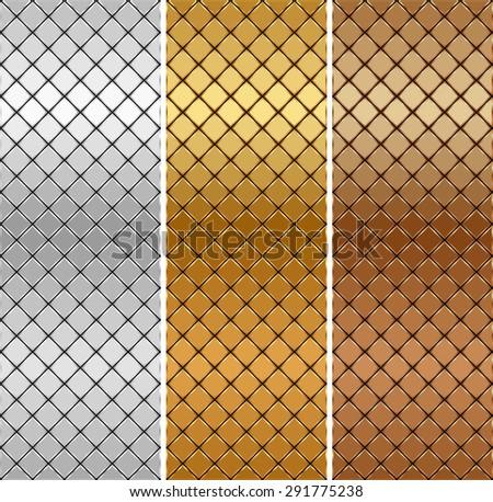 Vector golden, silver, bronze mosaic background - stock vector