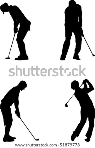 vector golf - stock vector