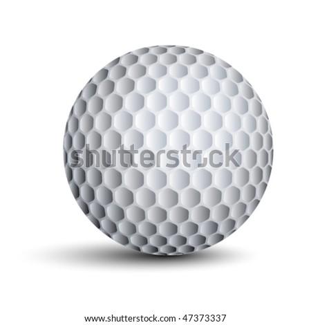 vector golf ball - stock vector