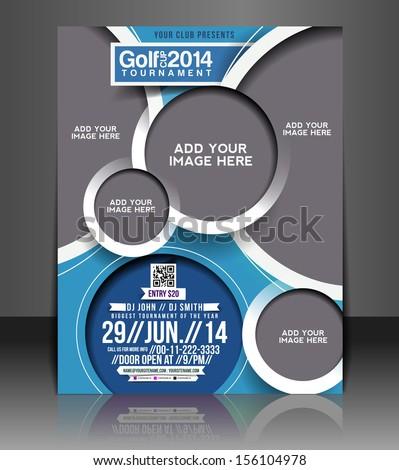 Vector Golf Tournament Flyer & Poster Template - stock vector