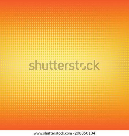 Vector gradient orange halftone dot pattern background - stock vector