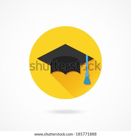Vector Graduation Cap Icon - stock vector