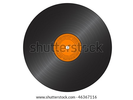 Vector gramophone record isolated on the white.
