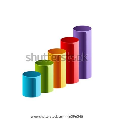 Vector graph - stock vector