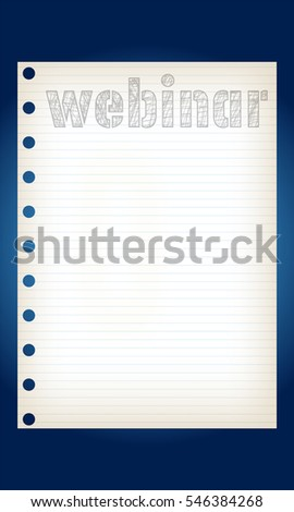 Vector graph paper and hand written words webinar