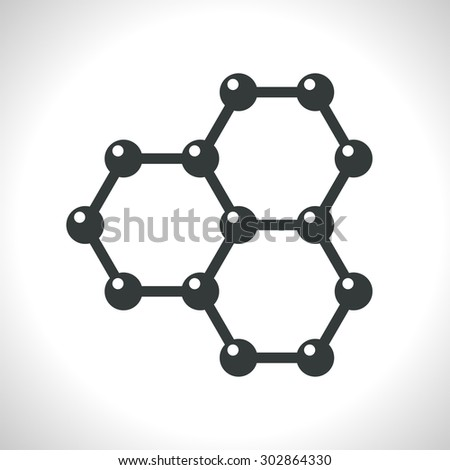 Vector graphene flat icon. Science illustration - stock vector