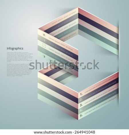 Vector graphic abstract 3d info-graphic design for your business - stock vector