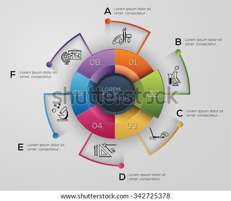 Vector graphic abstract info-graphics in vibrant colors - stock vector