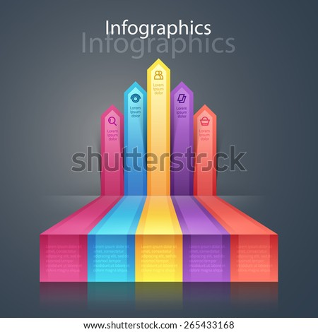 Vector graphic colorful info-graphic for your business