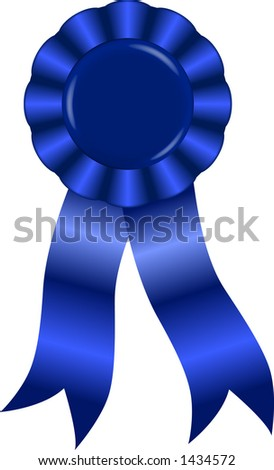 vector graphic depicting a blue ribbon award