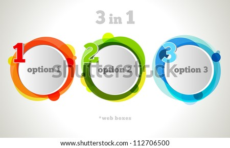 Vector Graphic Design Button and Labels Template. - stock vector