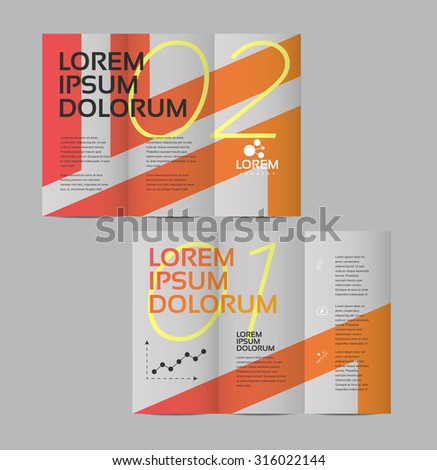 Vector graphic elegant business brochure design for your company in vibrant colors - stock vector