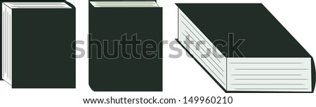 Vector Graphic Illustration of Books (no Outline)