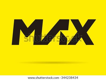 Vector graphic MAX - Modern logotype - stock vector