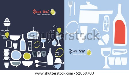 vector, graphic menu for restaurant, many variations possible - stock vector
