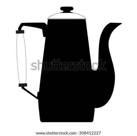 vector graphic of kettle