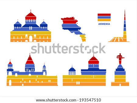 Vector graphic symbols of Armenia - stock vector
