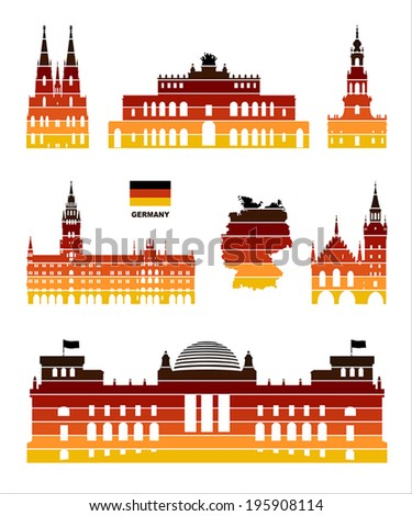 Vector graphic symbols of Germany - stock vector
