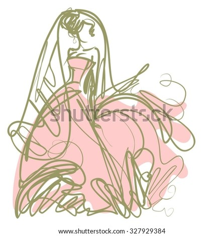 Dress Sketch Stock Images Royalty Free Images Vectors Shutterstock