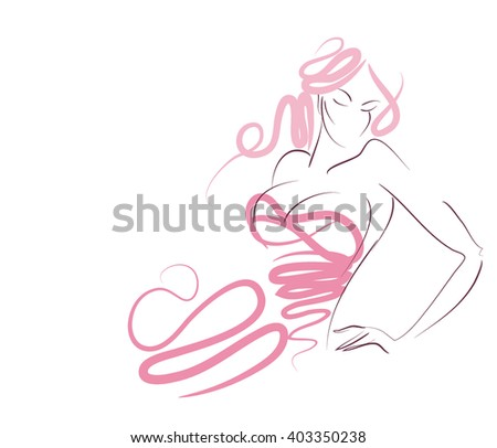 Lovers Kissing On Very Colorful Bow Stock Illustration 43038208 Shutterstock