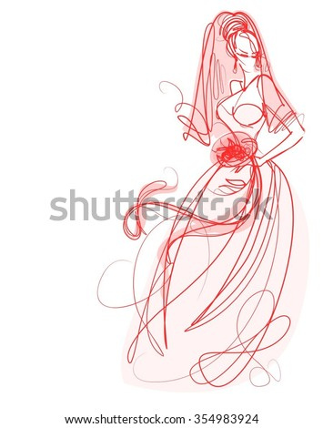 VECTOR graphic with beautiful young   girl model for design. Fashion, style, youth, beauty, Graphic, sketch drawing. Sexy woman. - stock vector