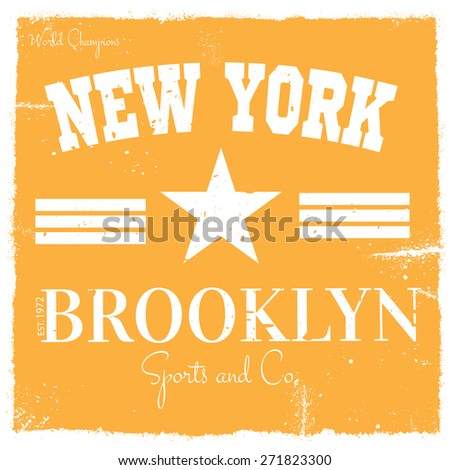 Vector Graphics and typography t-shirt design for apparel - stock vector