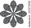 Vector graphics: circular design/decorative element - stock vector