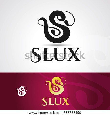 Vector graphics template logo company name initial letter S, logo design for the creative agency illustration - stock vector