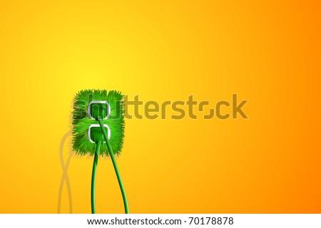 vector grass plug - stock vector