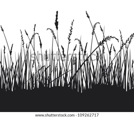 √ Silhouette Of Grass