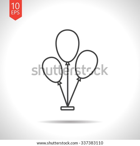 Vector gray balloons icon on white background