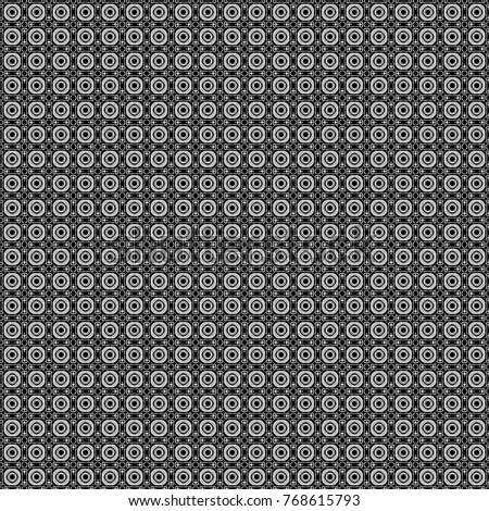 Vector gray, black and white seamless background pattern with rhombuses.