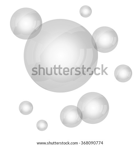 Vector gray bubbles background for your design