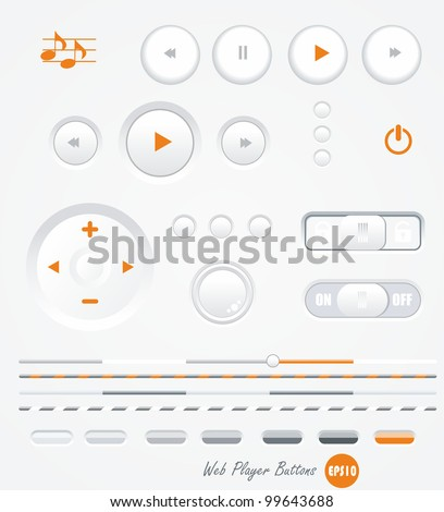 vector gray buttons for computing and web