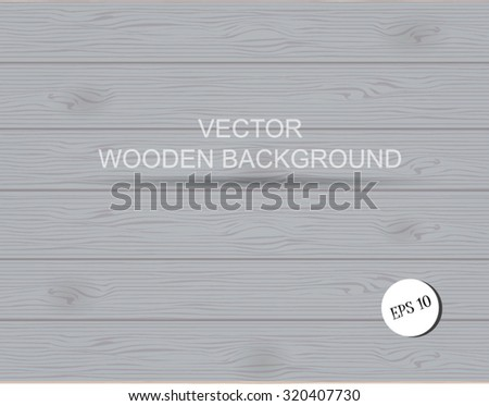 vector gray monochrome textured wooden background - stock vector