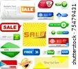 Vector great collection of sale banners and buttons. - stock vector