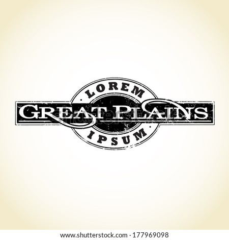 Vector Great Plains Medallion, Logo Emblem - stock vector