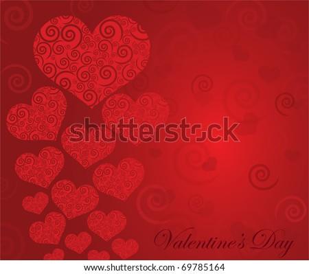 Vector great valentine background eps10 - stock vector