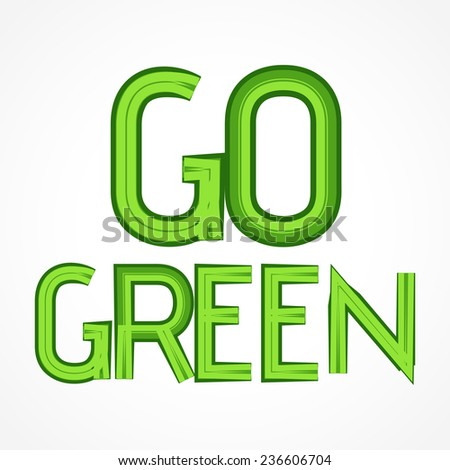 vector green abstract label illustration design - stock vector