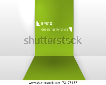 Vector green abstraction for your designs - stock vector