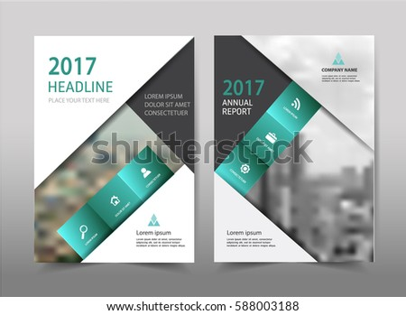 Green Triangle Annual Report Brochure Flyer Stock Vector 417011341